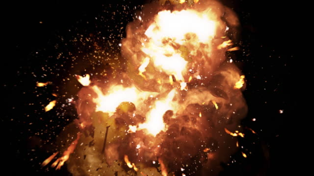 Realistic fireball explosion and blasts with luma channel.