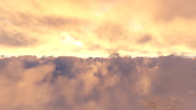 Realistische Flug durch die Wolken – Video