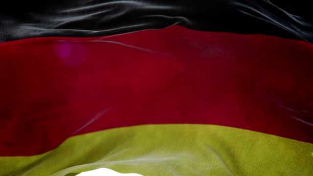 Realistic Germany Flag 3d animation loop video