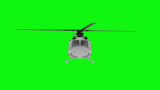 Realistic helicopter flying animation. Front view. Green screen 4k footage Realistic helicopter flying animation. Front view. Green screen 4k footage. helicopter stock videos & royalty-free footage