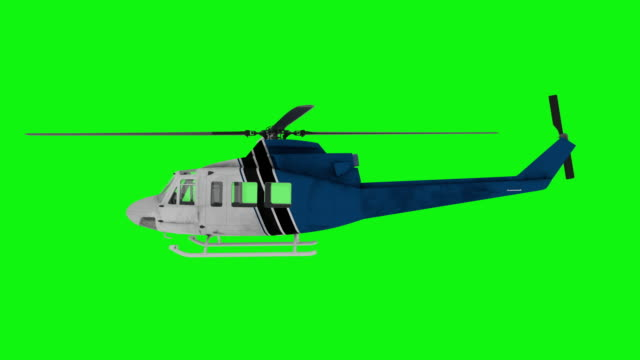 Realistic helicopter flying animation. Side view. Green screen 4k footage Realistic helicopter flying animation. Side view. Green screen 4k footage. helicopter stock videos & royalty-free footage