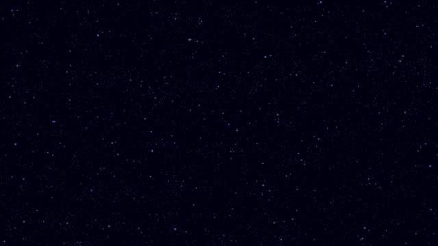 リアルな夜空の星空きらめく星、宇宙アニメーションの多く - 星型点の映像素材/bロール