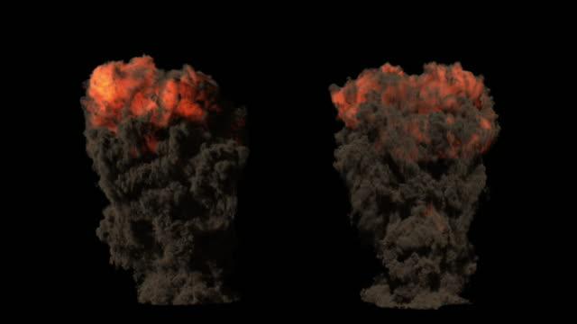 Realistic Slow Motion Explosions. Includes Alpha Channel. 4K DCI Format. Realistic Slow Motion Explosions. Effects stay within the frame. 4K DCI Format With PRORES + Alpha Channel. alpha channel stock videos & royalty-free footage