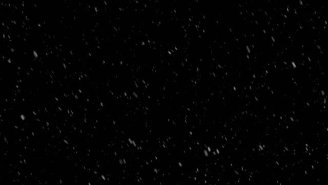4K Realistic snow overlay, sidewind average speed, alpha channel, seamless loop Falling of realistic snow, black background, seamless loop 4K stock video medium shot stock videos & royalty-free footage
