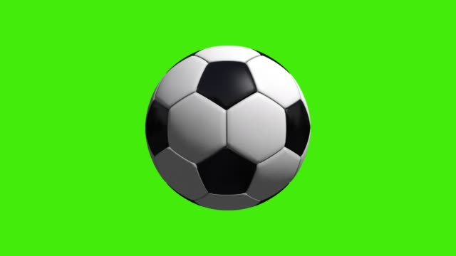 vidéos et rushes de rotation de balle de soccer réaliste sur écran vert - balle ou ballon