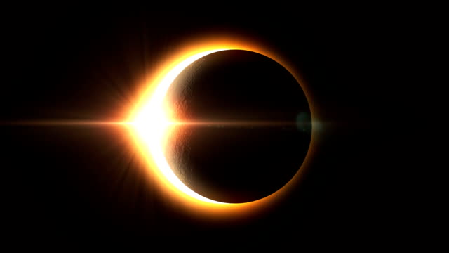 Realistic Solar Eclipse - Full Version Realistic Solar eclipse and Moon movement, Shadow on earth perfection stock videos & royalty-free footage