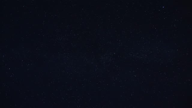 Realistic Subtle Twinkling Stars on a Clear Night Sky Loop