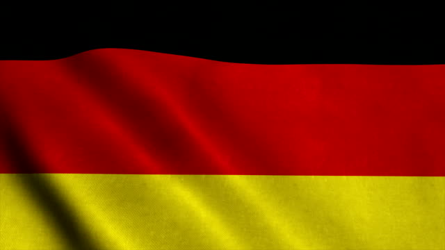 Realistic Ultra-HD flag of the Germany waving in the wind. Seamless loop with highly detailed fabric texture video