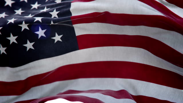 Realistic USA Flag 3d animation loop