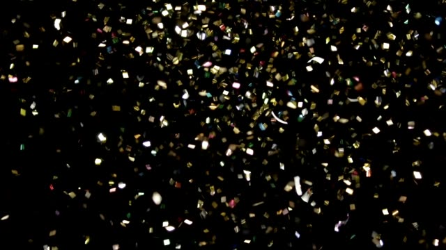 Realistic White Confetti Footage video
