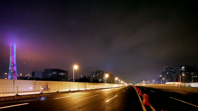 realtime clip of guangzhou bridge renewed - grand opening stock videos and b-roll footage
