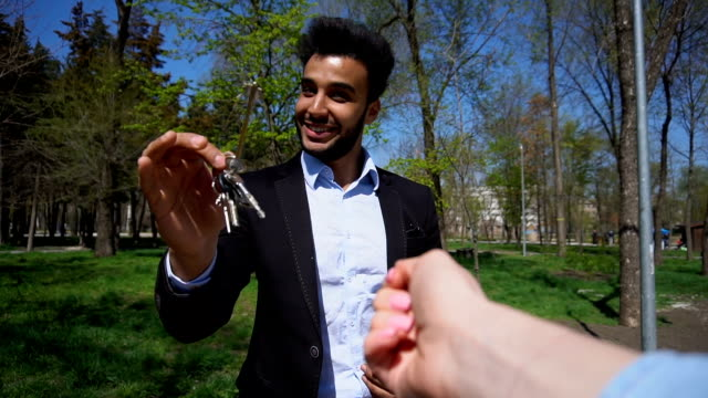 realtor sold apartment and giving keys video