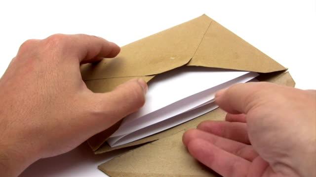 receiving a letter - kuvert bildbanksvideor och videomaterial från bakom kulisserna
