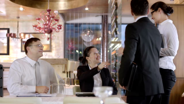 HD DOLLY: Receiving Business Partners At The Café video