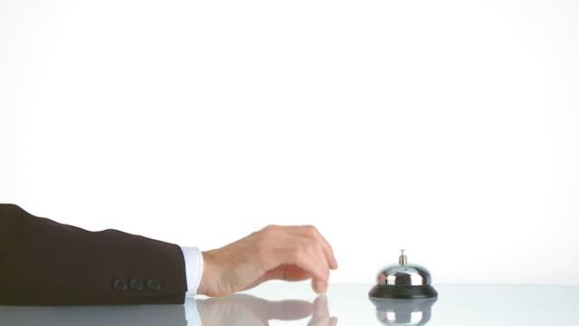 reception bell - impatient businessman video