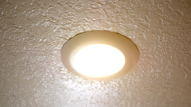 Recess Lighting on ceiling turning on and off video
