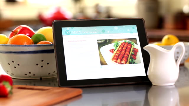 Recipe on Smart Tablet in Kitchen video