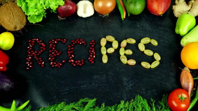 vidéos et rushes de recettes fruits stop motion - recette