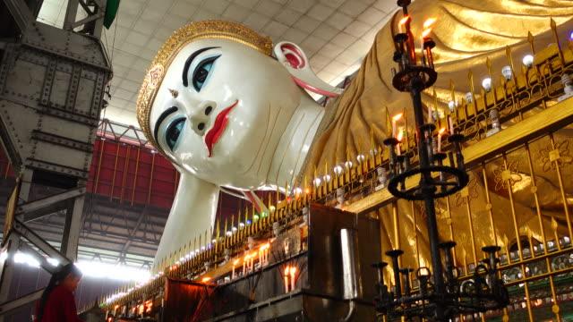 Reclining Buddha Statue in Yangon, Myanmar video