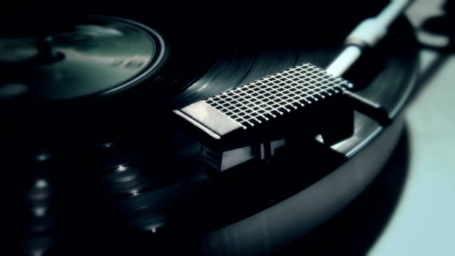 record player close up video