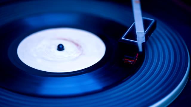 vídeos y material grabado en eventos de stock de registro de jugando - disco audio analógico