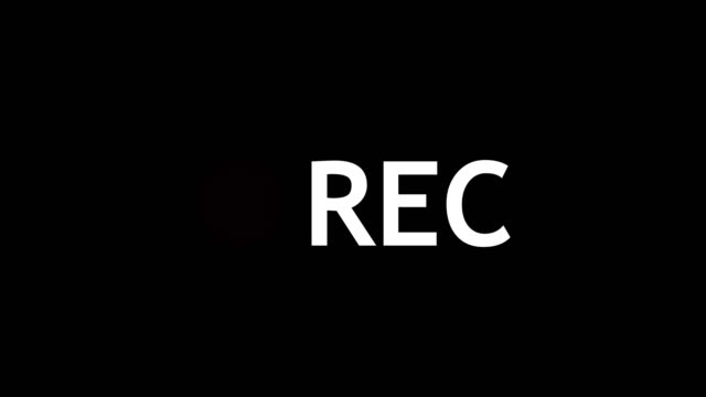 Record symbol. Digital illustration video