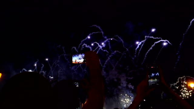 Recording Fireworks On Tow Phones