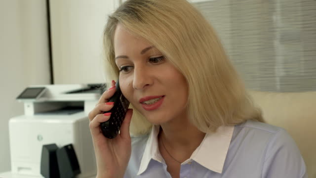 Recruitment agency manager calling customers, inviting for employment interview