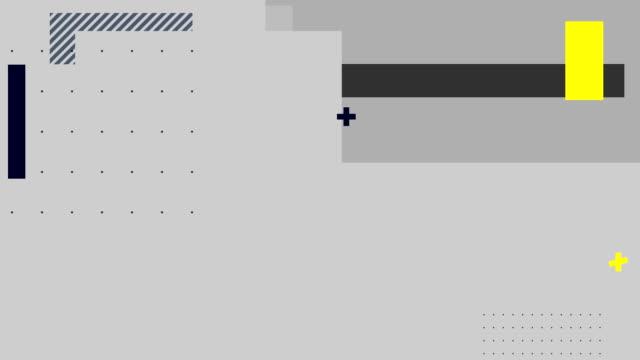 rechtecke und punkte, die sich auf grauem hintergrund bewegen - geometrische form stock-videos und b-roll-filmmaterial