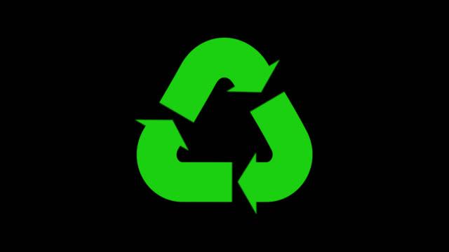 återvinn pilrörelse grafik animation. - logotyp bildbanksvideor och videomaterial från bakom kulisserna