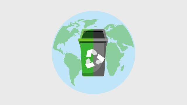 recycle ecology concept - coperchio video stock e b–roll