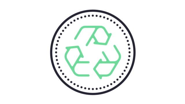 återvinna ikonen animation - återvinning bildbanksvideor och videomaterial från bakom kulisserna