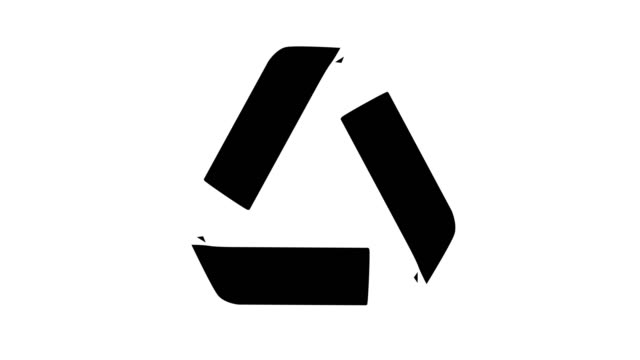 recycle icon Animation of universal recycle icon rotated. recycling stock videos & royalty-free footage