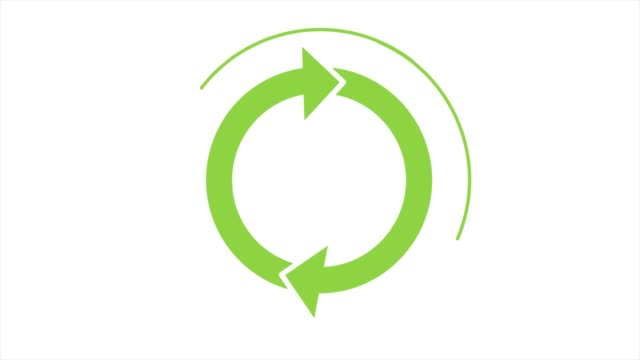 Recycle icon with rotating arrows (Seamless Loop Animation) Recycle icon with rotating arrows. Sign rotating (Seamless Loop Animation) environmental conservation stock videos & royalty-free footage