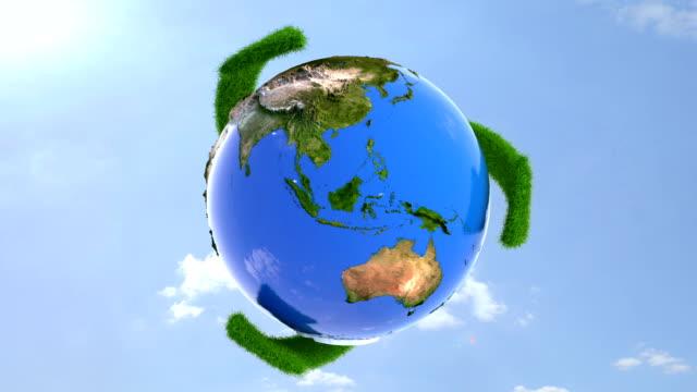 vídeos de stock e filmes b-roll de reciclagem de terra - green world