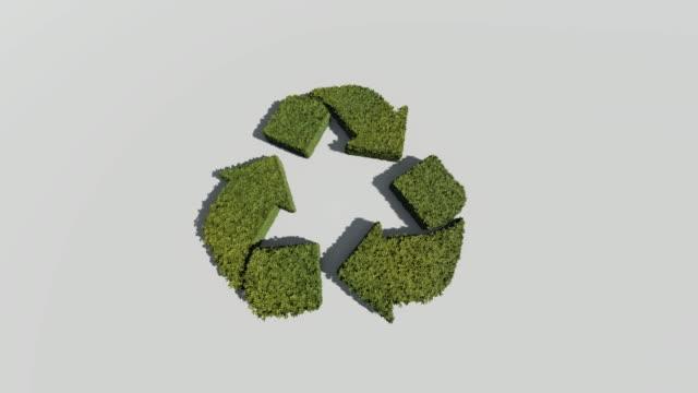 白の背景にシンボルをリサイクル - 生態系点の映像素材/bロール