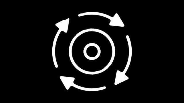 vídeos de stock e filmes b-roll de recycling & upcycling blackboard line animation with alpha - economia circular