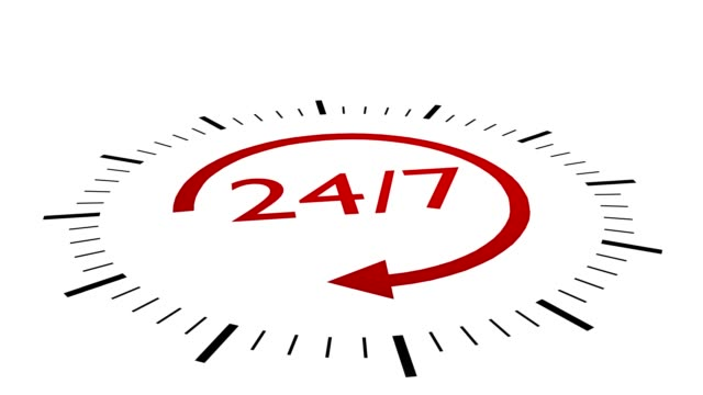 Red 24-7 sign