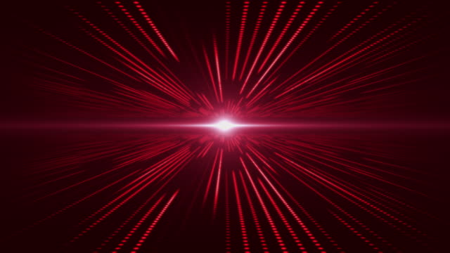 Red abstract technology digital background perspective with light