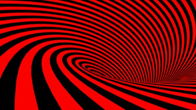Red and Black spiral background - 3D rendering videoclip