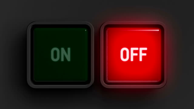Red and green buttons. HD Red and green buttons switched. push button stock videos & royalty-free footage