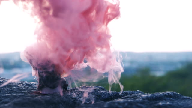 Red and Pink Smoke video