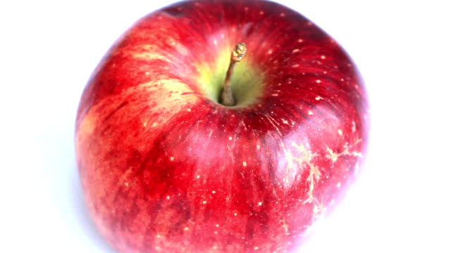 Red apple rotating video