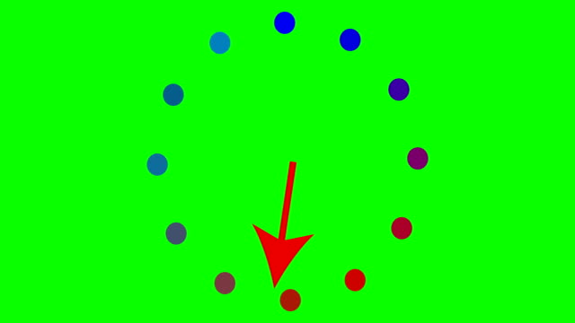 Red arrow pointer on green background 4k