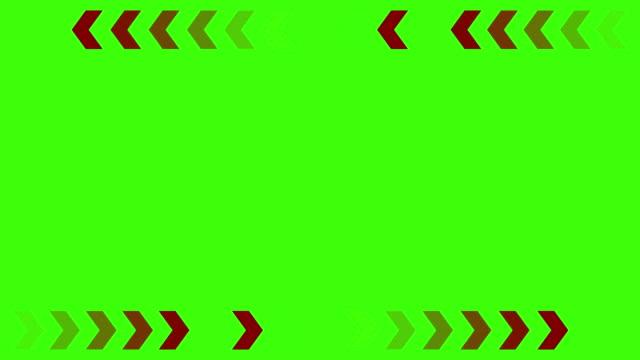 stockvideo's en b-roll-footage met rode pijlen op een groene achtergrond - pijlbord