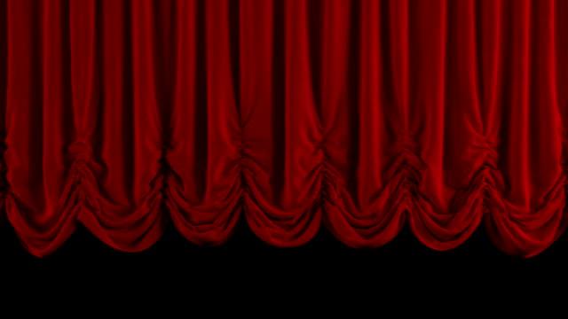 vidéos et rushes de ouverture de rideau rouge autrichien. avec canal alpha. - rideaux