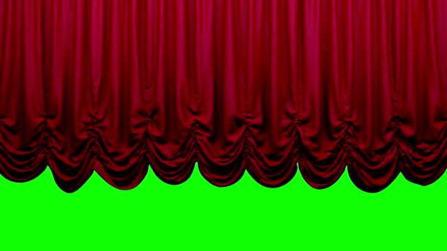 赤オーストリアの劇場の舞台幕、上下移動します。 - オペラ点の映像素材/bロール