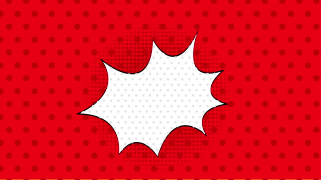 Red background, pop art Video animation video
