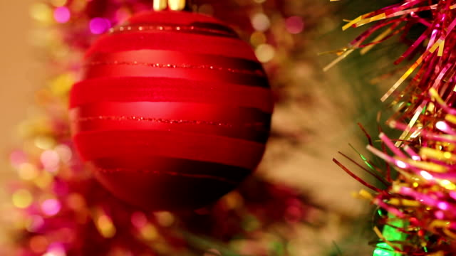 red balls on a Christmas tree video