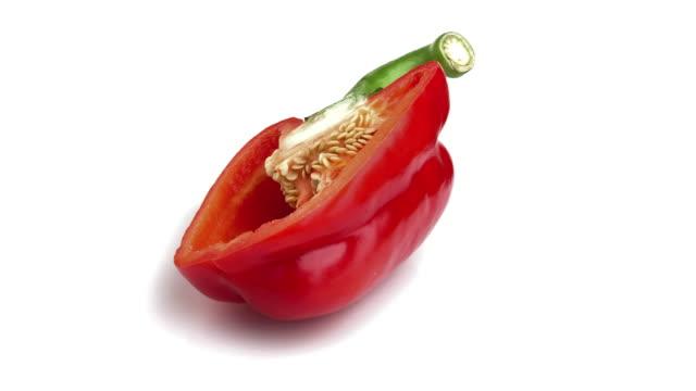 紅甜椒 - 枝 植物部分 個影片檔及 b 捲影像